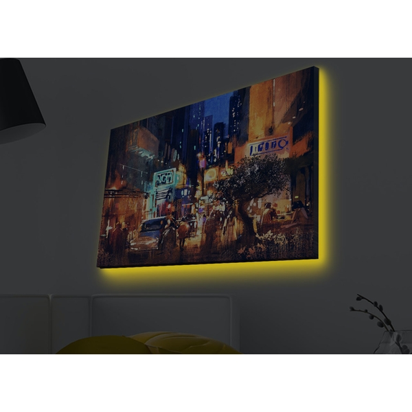 4570MDACT-002 Multicolor Decorative Led Lighted Canvas Painting