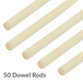 Set of 50 Bamboo Dowel Rods | Pukkr - Image 5