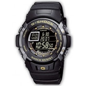Casio G-Shock G-7710-1ER Men's Quartz Watch with Black Dial Digital Display and Black Resin Strap