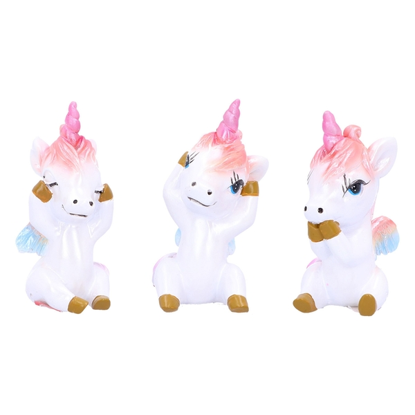 Three Wise Pegacorns Unicorn Ornaments