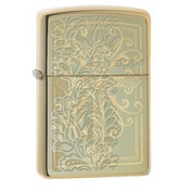 Zippo Paisley Design High Polish Brass Finish Windproof Lighter