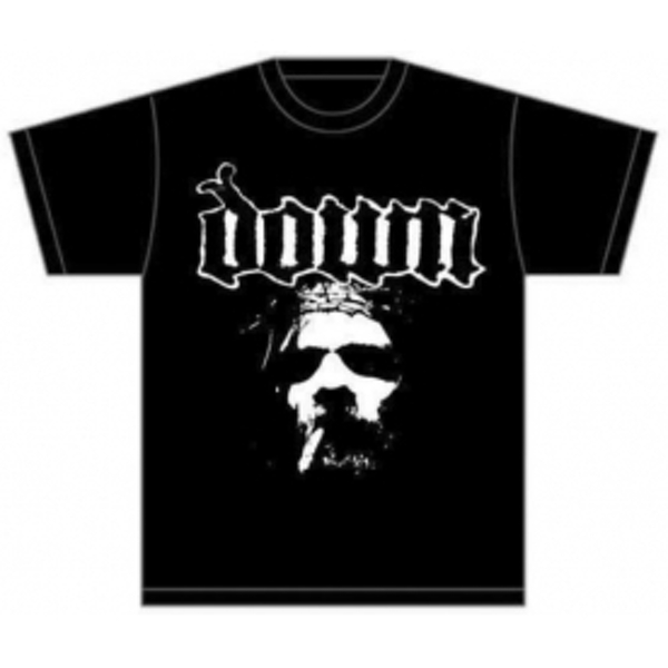 Down Face Mens T Shirt: Black Small