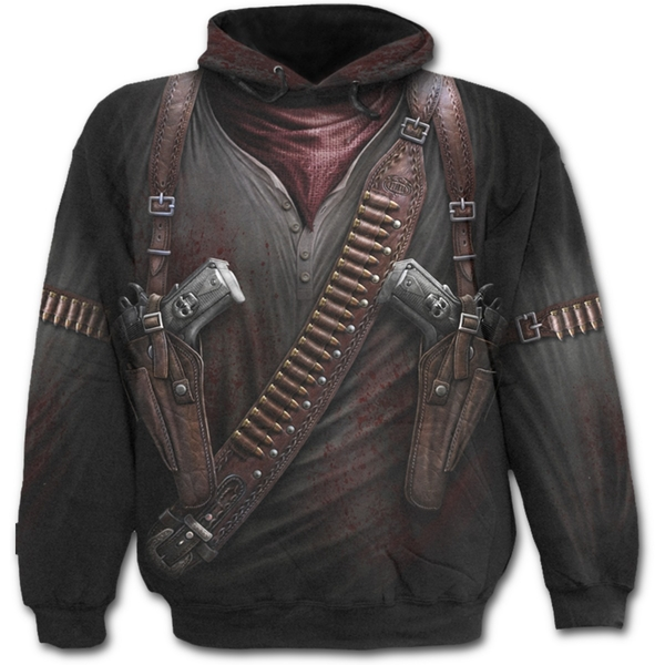 Holster Wrap Allover Men's Small Hoodie - Black