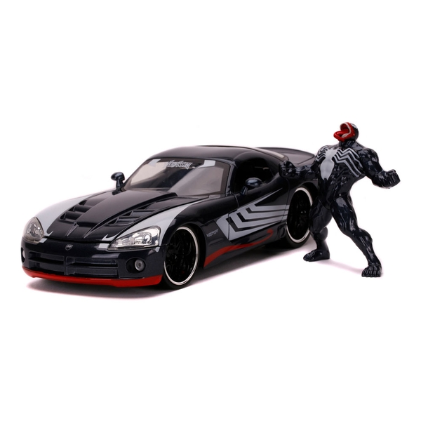 Marvel Comics - Venom 2008 Dodge Viper Sports Car Die-cast Vehicle and Metal Figure