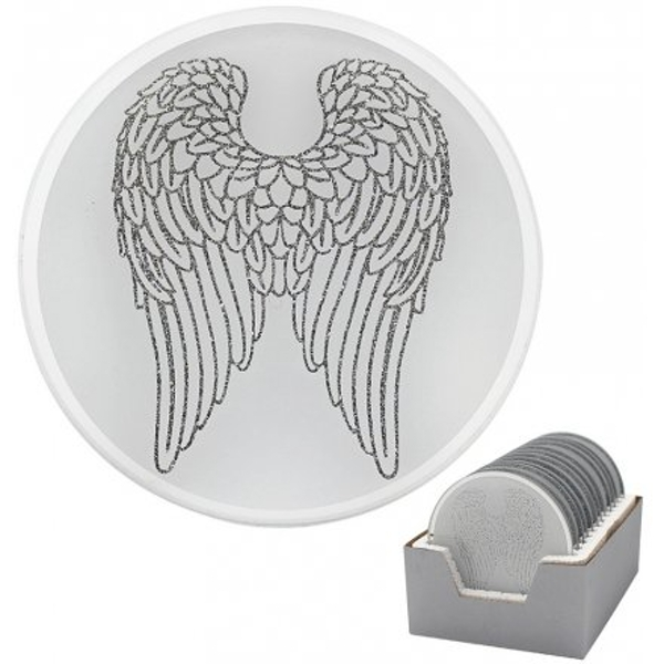 Glittered Wings Candle Plate 10cm (1 Random Supplied)