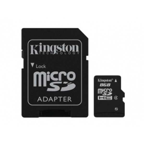 Kingston MicroSDHC 8GB Card (Class 4)