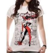 Harley Quinn - Comic Fitted T-shirt White Medium