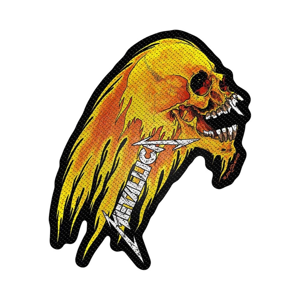 Metallica - Flaming Skull Cut-Out Standard Patch