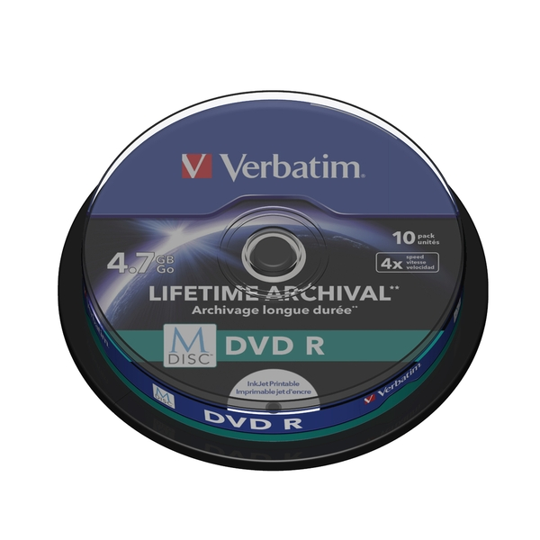 Verbatim M-DISC DVD R  4x 10pk Spindle