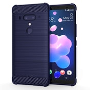 CASEFLEX HTC U12 PLUS CARBON ANTI FALL TPU CASE - BLUE