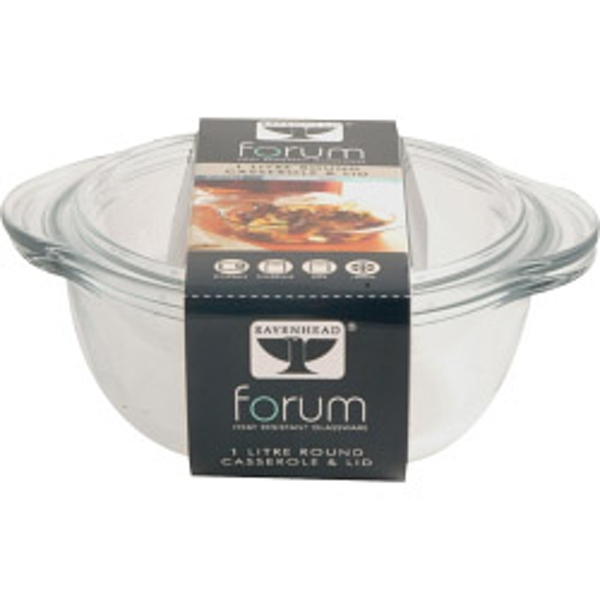 Ravenhead Forum Round Casserole with Lid 1L