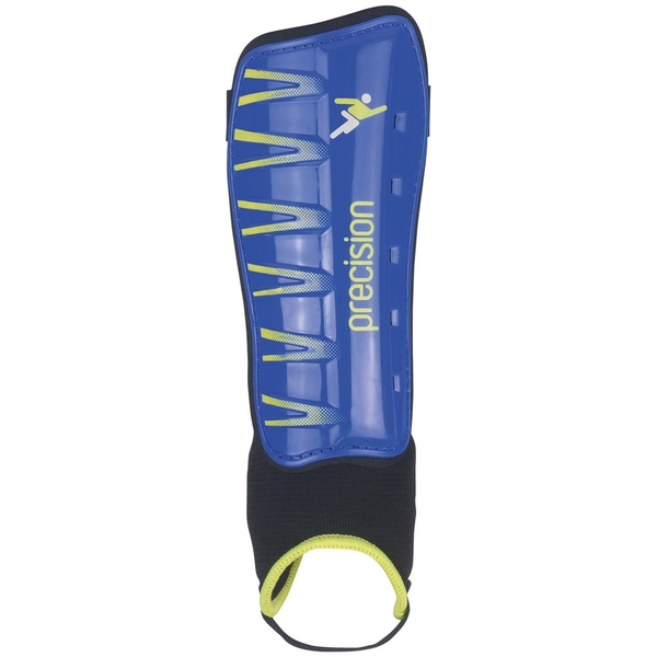 Precision Pro Shin & Ankle Pads Blue/Fluo Lime - XSmall