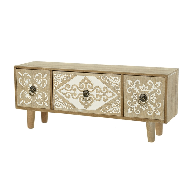 Decorative Three Rustic Wooden Cabinet By Heaven Sends