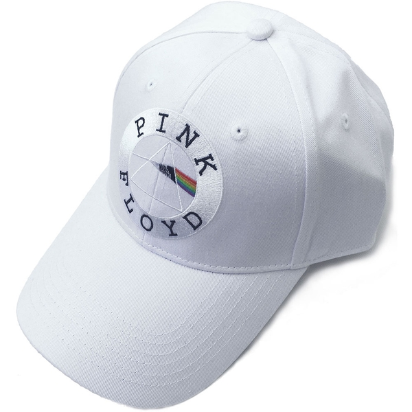 Pink Floyd - Circle Logo Men's Baseball Cap - White