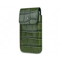 SOX Coccodrillo Genuine Leather Premium Mobile Phone Bag for iPhone/Samsung and more, Large, Green (SOX KCOCB 02 L)