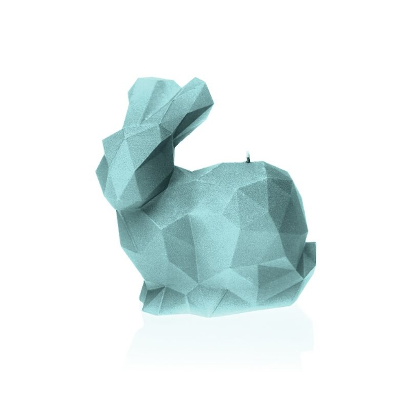 Mint Large Rabbit Candle