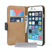 Caseflex iPhone 6 / 6s Real Leather Wallet Case - Black