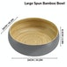 Bamboo Serving Bowl | M&W Large Grey - Image 4