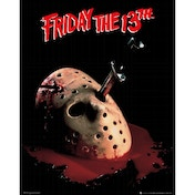 Friday the 13th Mask Mini Poster