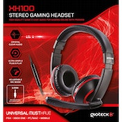 Gioteck XH100 Wired Stereo Gaming Headset Red (PS4/Xbox One/PC)