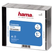 Hama Standard CD Jewel Case, pack of 5, transparent/black