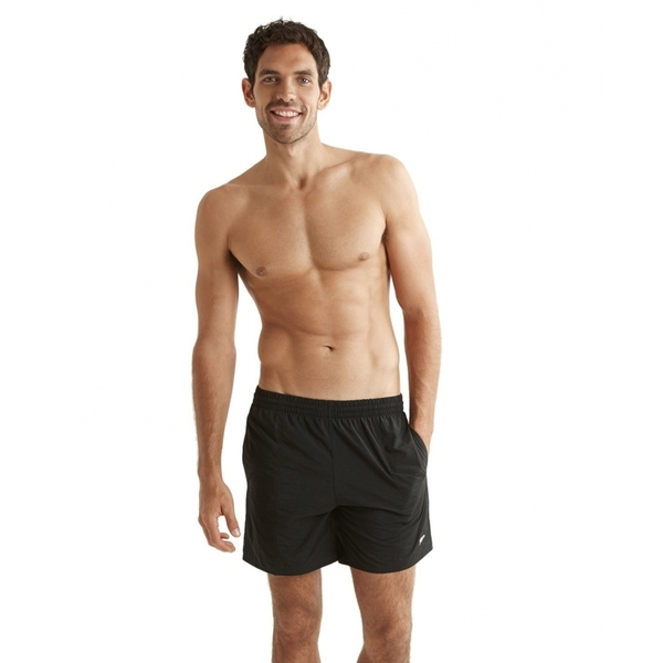Speedo Mens Solid Leisure Shorts Small Black