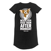 Gremlins - Dont Feed After Midnight Women's XX-Large T-Shirt Dress - Black