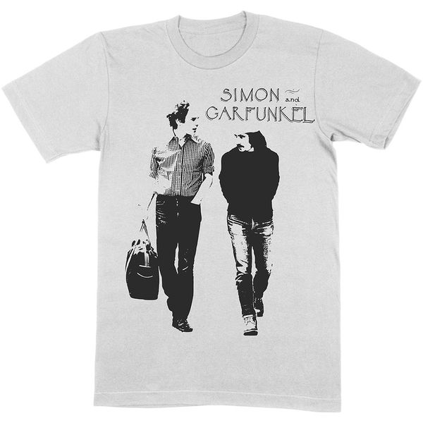 Simon & Garfunkel - Walking Unisex Large T-Shirt - Neutral