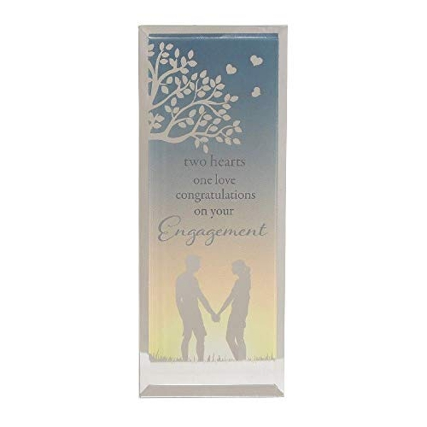 Reflections Of The Heart Engagement Standing Plaque