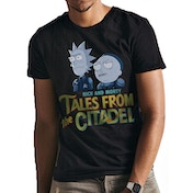 Rick And Morty - Tales From The Citadel men's Small T-Shirt - Blue