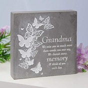 Thoughts Of You Graveside Smooth Concrete Plaque - Grandma