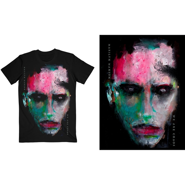 Marilyn Manson - We Are Chaos Cover Unisex Large T-Shirt - Black