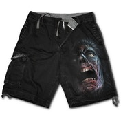 Night Walkers Men's Large Vintage Cargo Shorts - Black