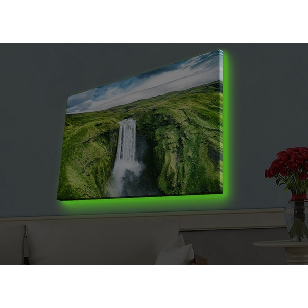 4570HDACT-092 Multicolor Decorative Led Lighted Canvas Painting