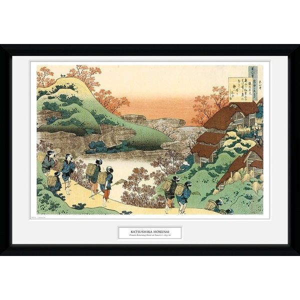 Hokusai Women Returning Home 50 x 70 Collector Print