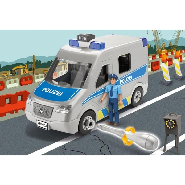 Police Van 1:20 Scale Level 1 Revell Junior Model Kit