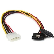 StarTech 4-pin Molex (M) to 2 x SATA Power Locking (M) 30cm Retail Packaged Internal Splitter Cable