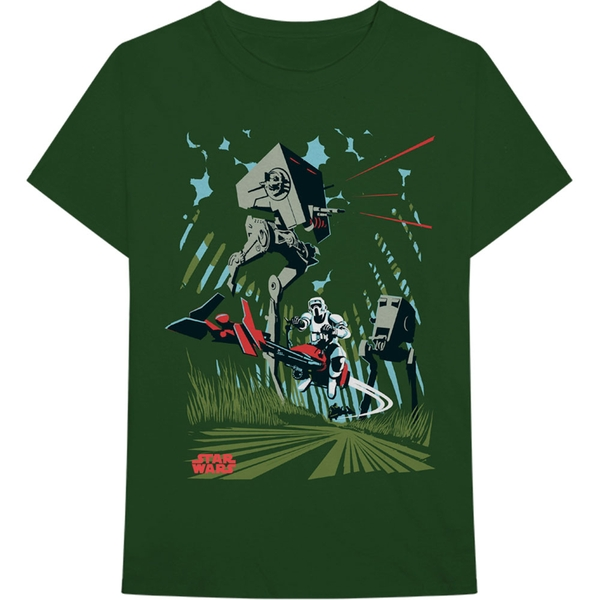 Star Wars - AT-ST Archetype Men's Medium T-Shirt - Green