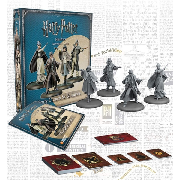 Harry Potter Miniatures Adventure Game Barty Crouch Sr & Aurors Expansion Board Game