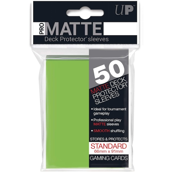 Ultra Pro Standard Deck Protectors (50 Sleeves) - Lime Green
