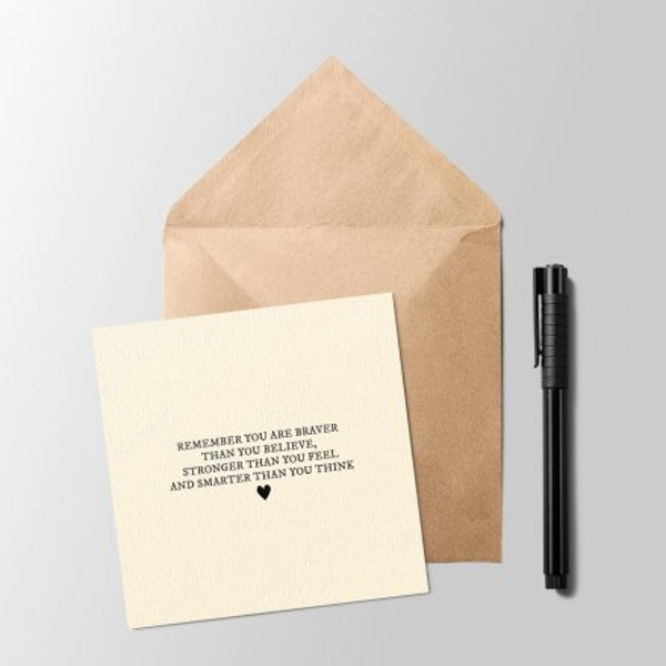 Sentiments Greeting Card - Smarter Than You Think