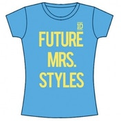 One Direction Future Mrs Styles Skinny Blue T-Shirt Medium