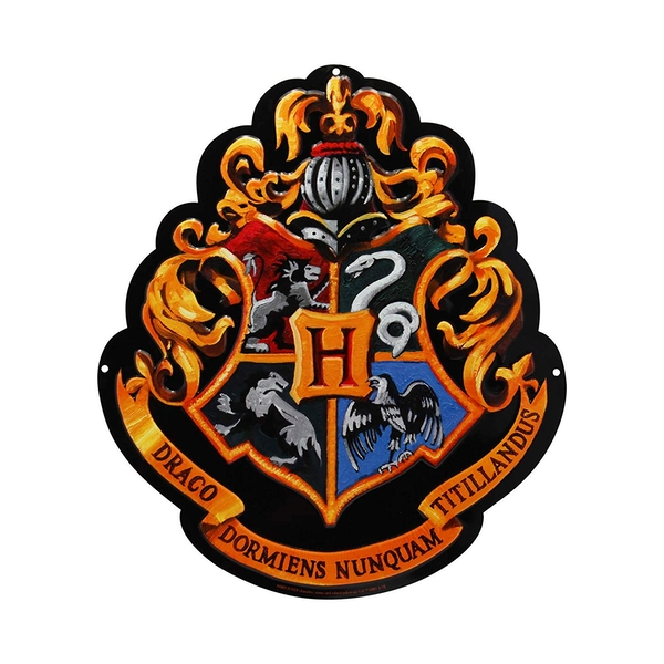 "Harry Potter - Metal plate ""Hogwarts"" (28x32) With hook"