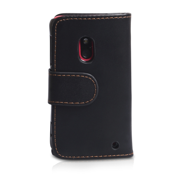 YouSave Accessories Nokia Lumia 620 Leather-Effect Wallet Case - Black - Image 2