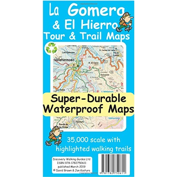 La Gomera & El Hierro Tour & Trail Super-Durable Maps  Sheet map 2019
