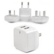 StarTech Dual-port USB Wall Charger International Travel 17W/3.4A White