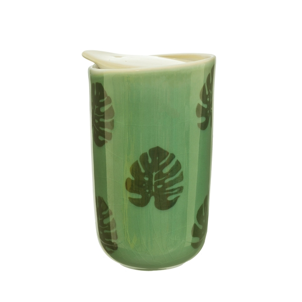 Sass & Belle Cheese Plant Leaf Ceramic Travel Mug