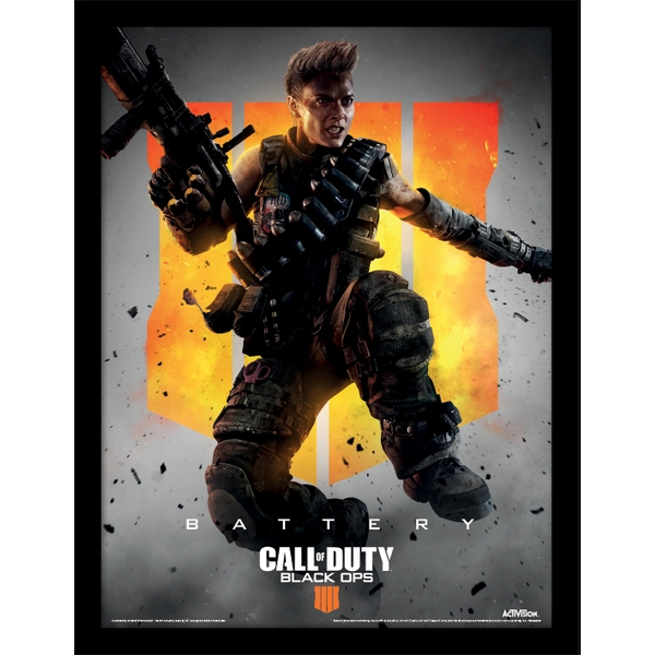 Call of Duty: Black Ops 4 - Battery Framed 30 x 40cm Print - Image 1