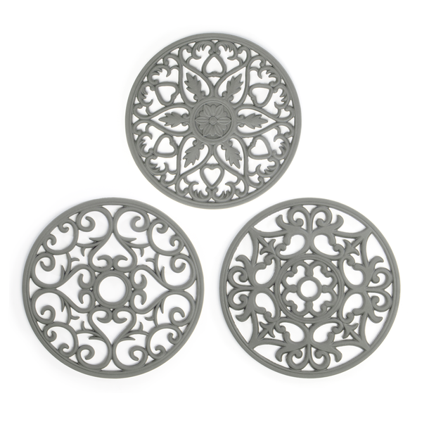 Silicone Trivets - Set of 3 | Pukkr Grey