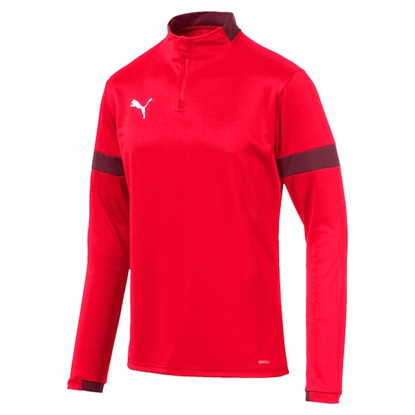 Puma ftblPLAY 1/4 Zip Top Red/Burgundy - XSmall
